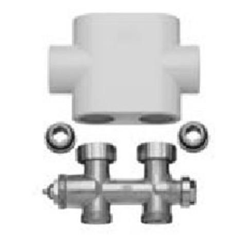 Блок подключения проходной со встроенным вентилем в комплекте