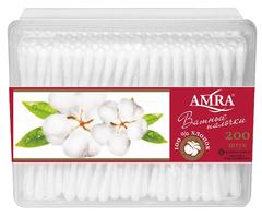 Ватные палочки AMRA (Хлопок, белый, 200 шт/упк)