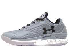Кроссовки Мужские Under Armour Curry One Low Grey White Black