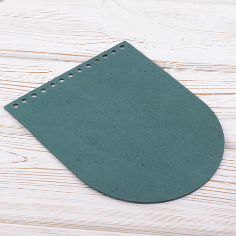 """Клапан для сумочки кожаный """"Изумруд"""" 19,5 см на 15,5см"""