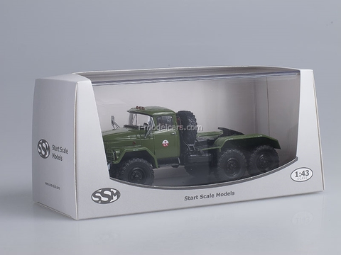 ZIL-131NV tractor unit khaki labeled SA 1:43 Start Scale Models (SSM)