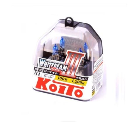 Автолампа H1 12V 55W (100W) (P14.5s) 2шт. Whitebeam Koito