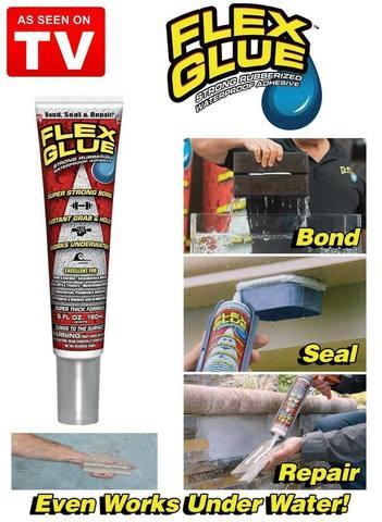 Супер-клей Flex Glue универсальный водонепроницаемый 180мл