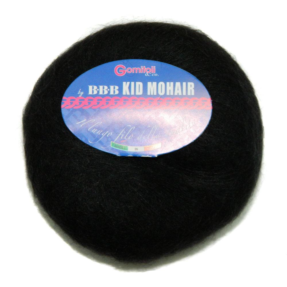 Пряжа BBB Filati Kid Mohair 0200 черный