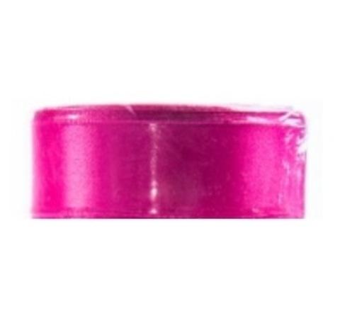 Лента атласная (размер:25мм х 25 ярдов) Цвет:розовый