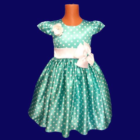 Платье для малышек бирюзовое с крылышками