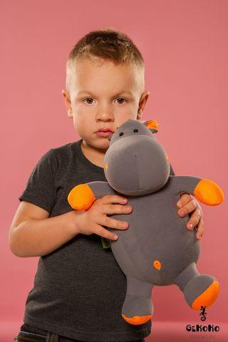 Подушка-игрушка антистресс «Бегемот малыш Няша», оранжевый 2
