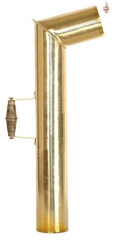 Труба для самовара с деревянной ручкой (латунь)