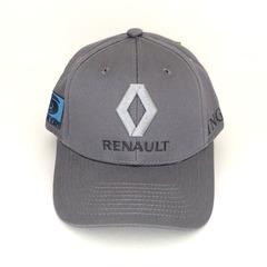 Кепка с вышитым логотипом Рено (Кепка RENAULT) серая