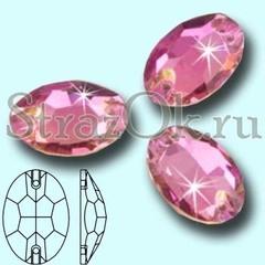 Стразы пришивные Vitrail Pink, Oval светло-розовые купить оптом недорого