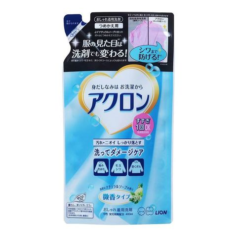 Средство для стирки деликатных тканей с нежным ароматом цветочного мыла Lion Acron 400 мл