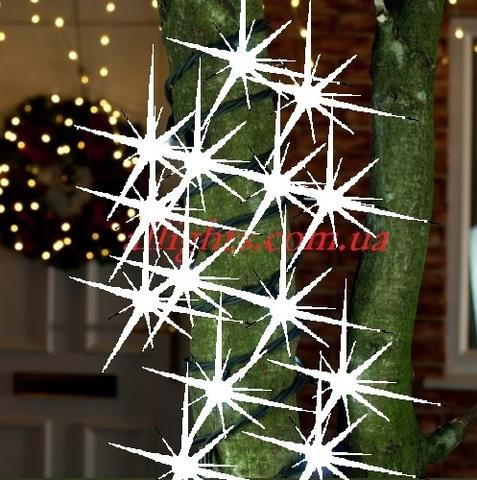 нить 10 метров гирлянда на деревья уличная с мерцанием каучук кабель провод шнур LED