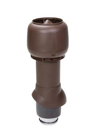 Вентиляционный выход 125 из 500 Vilpe шоколадный