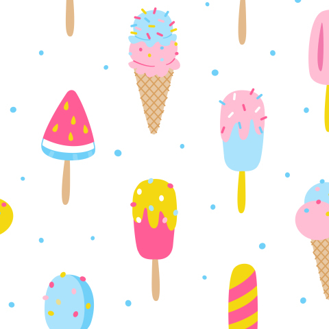 Мороженое на белом
