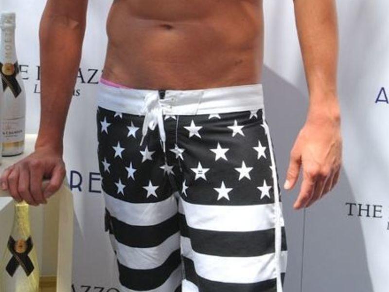 Мужские плавательные шорты черная Америка AussieBum Black America