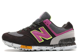 Кроссовки Женские New Balance 574 Suede Brown Grey Pink Green