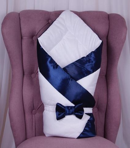 Конверт одеяло для новорожденных Beauty синий