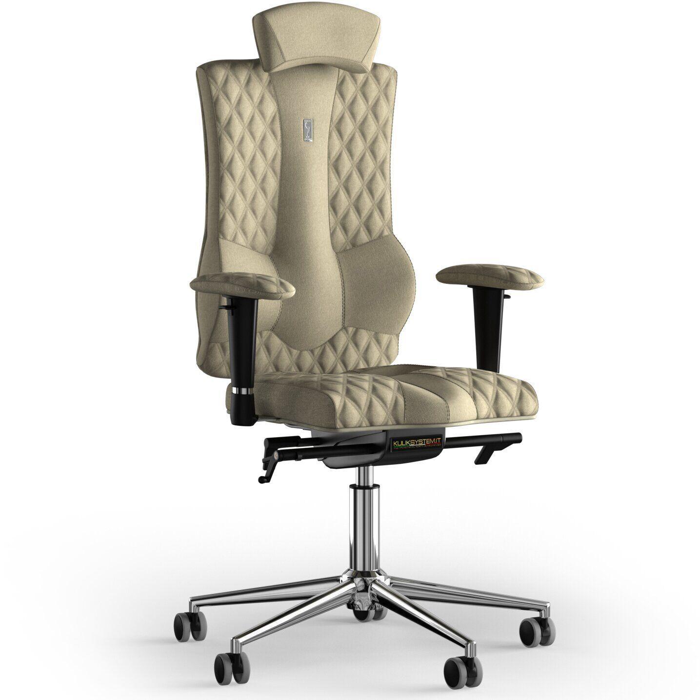 Кресло KULIK SYSTEM ELEGANCE Ткань с подголовником со строчкой