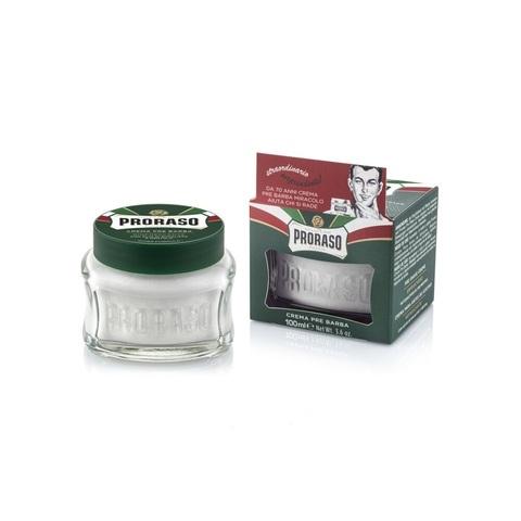 Крем до бритья (прешейв) Proraso Зеленый ментол  100 мл