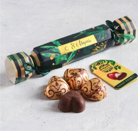 Шоколадные конфеты в упаковке-конфете