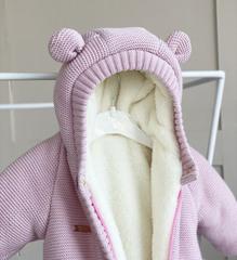 Зимний комплект на выписку из роддома Мишкин розовый NEW