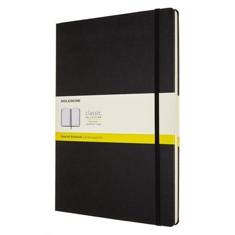 Блокнот Moleskine CLASSIC QP111 A4 192стр. клетка твердая обложка черный