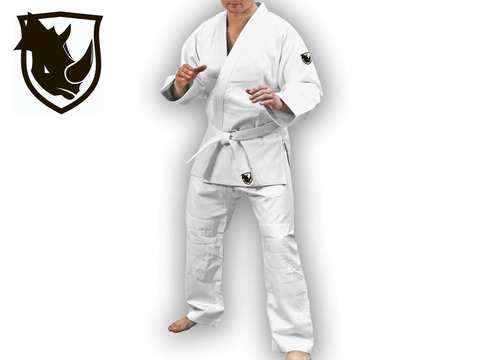 Кимоно дзюдо RHINO. Цвет белый. Размер 28-30. Рост 115.