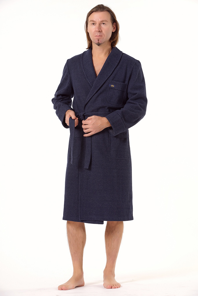 Фланелевый мужской халат B&B