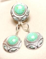 Ольта (кольцо + серьги из серебра)