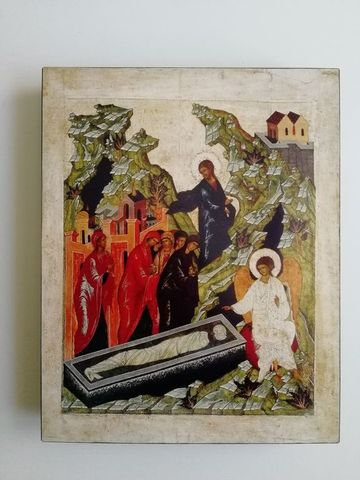 Икона Жены Мироносицы на дереве на левкасе мастерская Иконный Дом