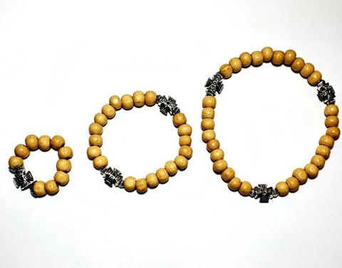 Набор: четки деревянные на 10, 20 и 30 бусин с крестом