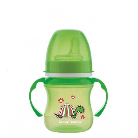 Поильник обучающий EasyStart 35/207 с силиконовым носиком, 120 мл. 6+ Colourful animals (зеленый)