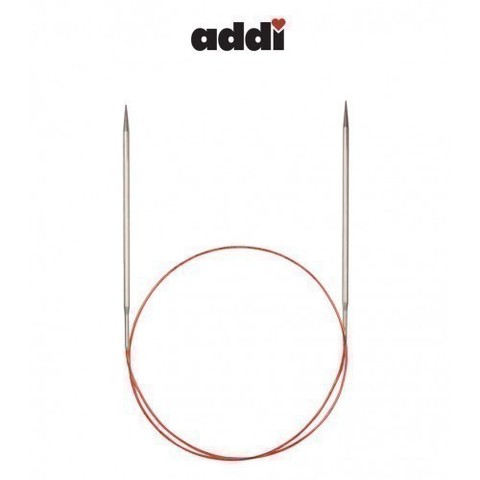 Спицы Addi круговые с удлиненным кончиком для тонкой пряжи 120 см, 4.5 мм