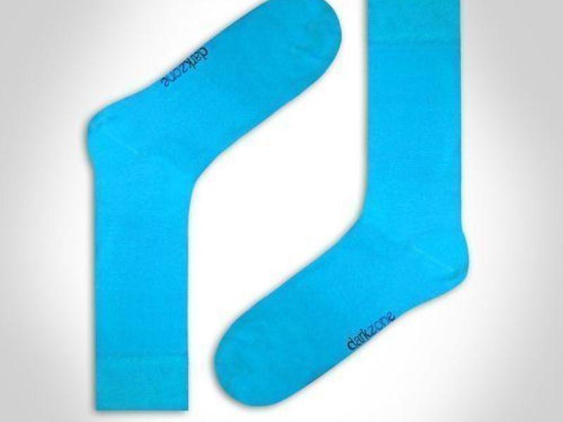 Носки мужские - набор из 3 пар (бирюзовые, темно-синие, желтые) DARKZONE DZCP3204