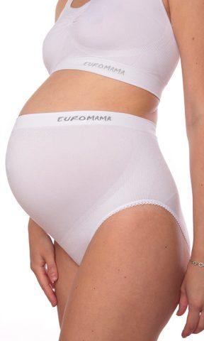 Euromama/Евромама. Трусы бесшовные высокие с поддержкой живота, белые