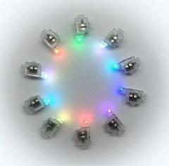 Подсветка в шар Разноцветная (мигающая), 10 шт.