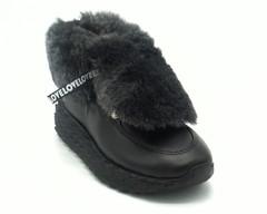 Ботинки черные на массивной подошве