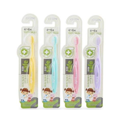 Зубная щетка детская с нано-серебряным покрытием №2 от 4 до 6 лет Lion Kids Safe