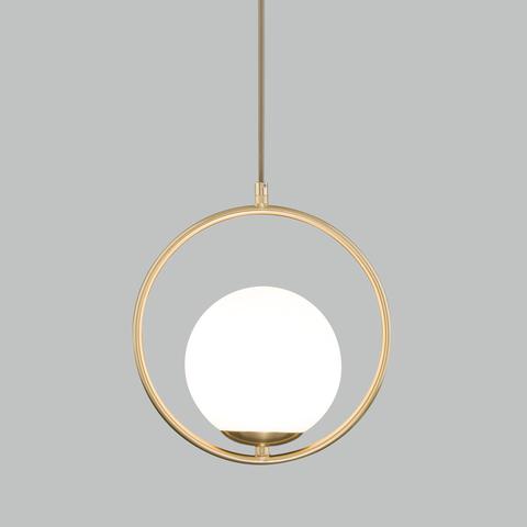 Подвесной светильник со стеклянным плафоном 50089/1 золото