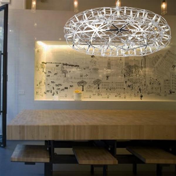 Подвесной светильник копия Raimond Zafu by Moooi (серебряный, D 75 cm)