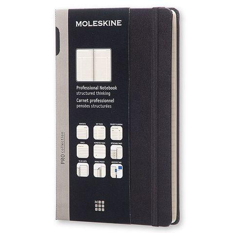 Блокнот Moleskine PROFESSIONAL PROPFNT3HBK Large 130х210мм 240стр. твердая обложка черный