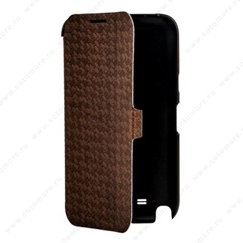 Чехол-книжка Yoobao для Samsung Galaxy Note 2 N7100 - Yoobao Fashion Leather Case (British style pattern) Brown
