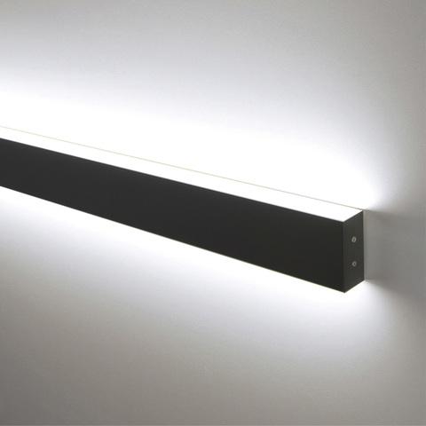 Линейный светодиодный накладной двусторонний светильник 78см 30Вт 3000К черная шагрень 101-100-40-78