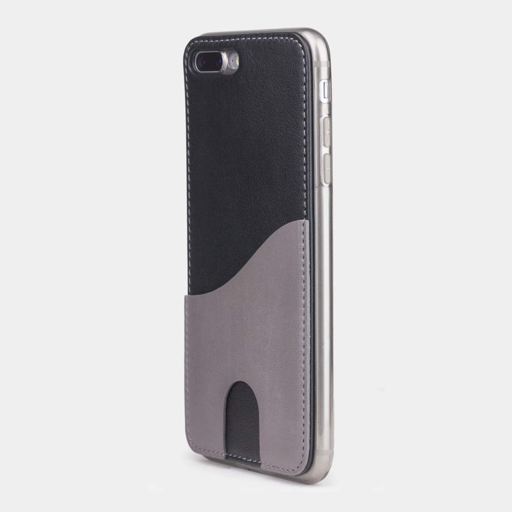 Чехол-накладка Andre для iPhone 7 Plus из натуральной кожи теленка, черного цвета