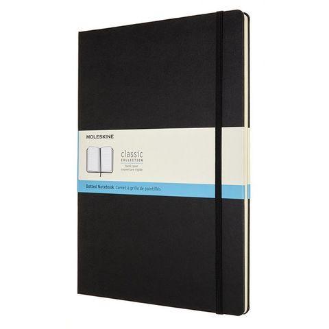 Блокнот Moleskine CLASSIC QP113 A4 192стр. пунктир твердая обложка черный