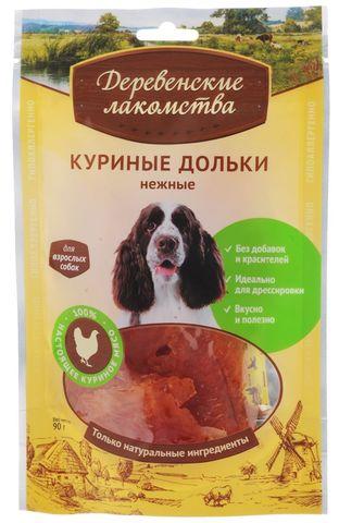 Деревенские лакомства для собак куриные дольки 90 г