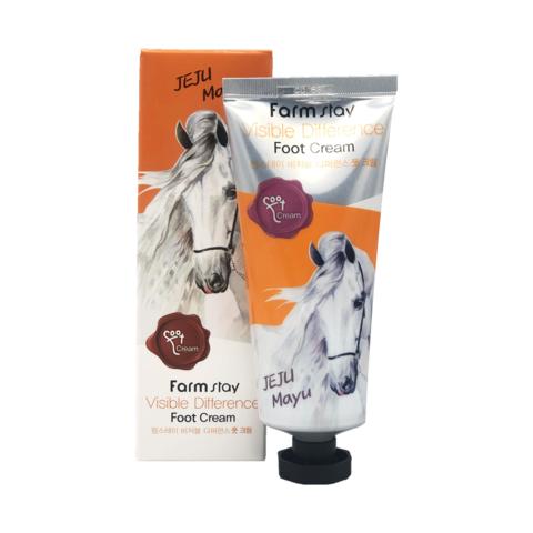 Крем для ног с лошадиным маслом FarmStay Visible Difference Foot Cream Jeju Mayu 100 мл