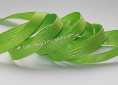 Лента репсовая зеленое яблоко ширина от 6 до 38 мм