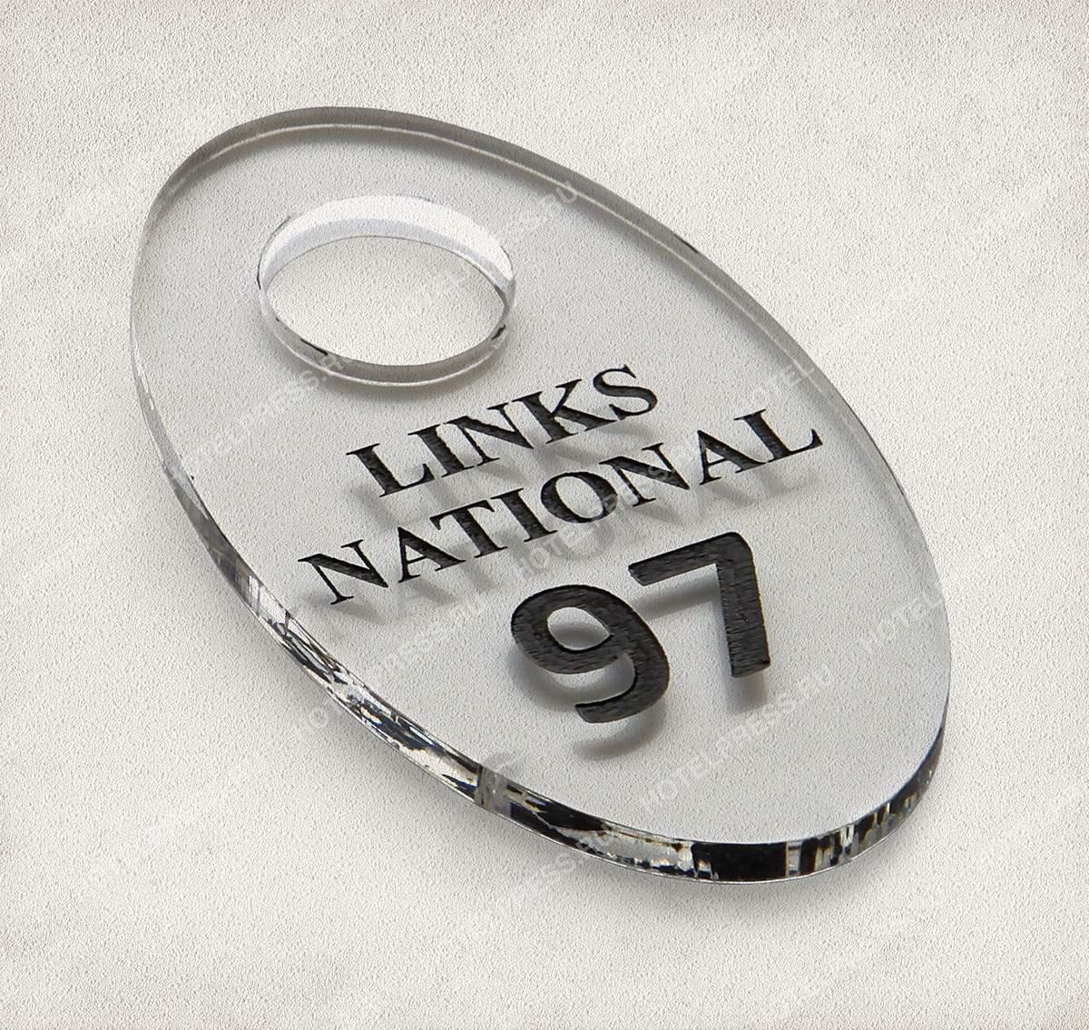 Номерок из прозрачного акрила