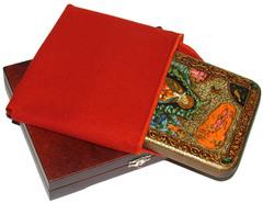 Инкрустированная рукописная икона Пророк Илия Фесвитянин 20х15см на натуральном дереве в подарочной коробке
